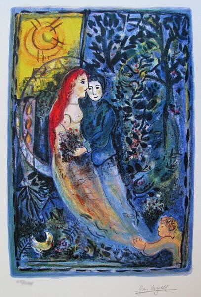 3T: MARC CHAGALL WEDDING LIMITED ED. SMALL GICLÉE