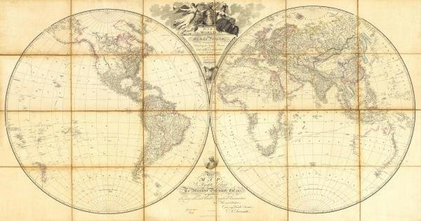 5B: AARON ARROWSMITH - MAP OF THE WORLD, RESEARCHES OF