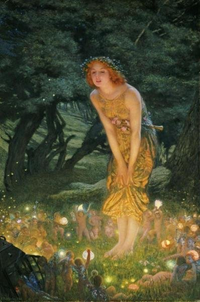 1B: EDWARD ROBERT HUGHES - MIDSUMMER EVE