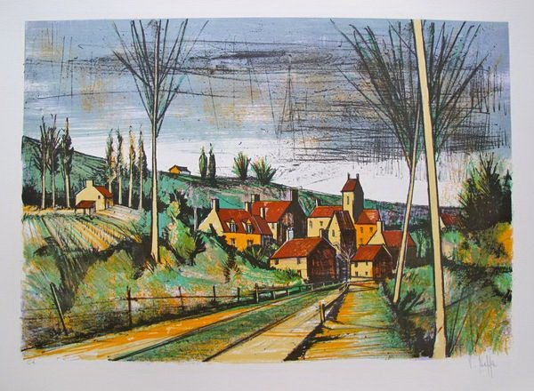 1T: V. BEFFA THE ROAD TO THE VILLAGE HAND SIGNED LIMITE