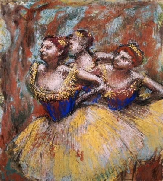 9B: EDGAR DEGAS - THREE DANCERS