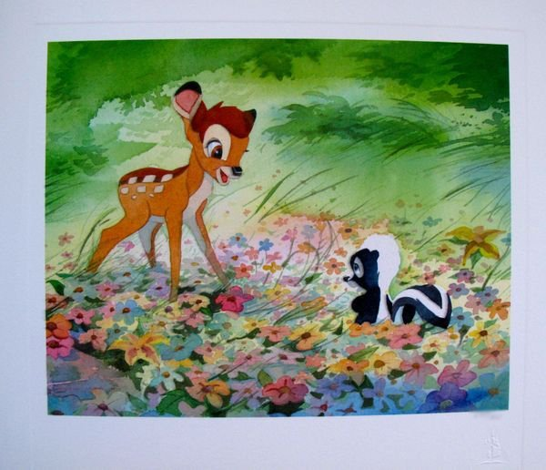 11T: DISNEY BAMBI AND FOREST FRIENDS LIMITED ED. LITHOG