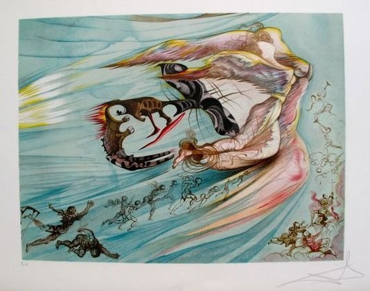 13T: SALVADOR DALI HOMAGE TO LINCOLN HAND SIGNED LIMITE