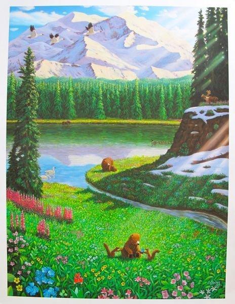 17T: CHARLES LYNN BRAGG ALASKA SPRING HAND SIGNED LIMIT