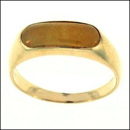 169K: NATURAL YELLOW JADE RING - SIZE 7