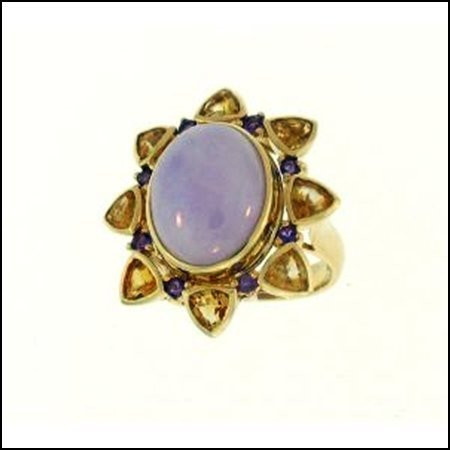 1X: NATURAL LAVENDER JADE RING
