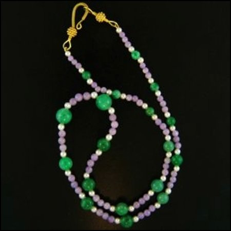 7X: NATURAL LAVENDER JADE NECKLACE