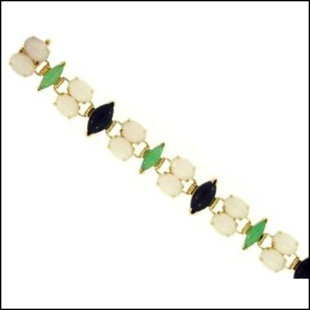 10X: NATURAL WHITE MIX JADE BRACELET