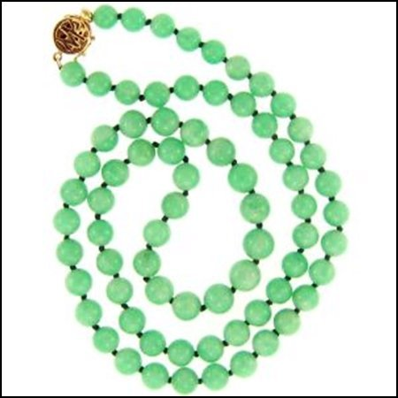 13X: NATURAL GREEN JADE NECKLACE