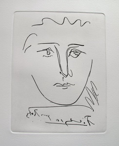 5T: PABLO PICASSO POUR ROBY RESTRIKE ETCHING