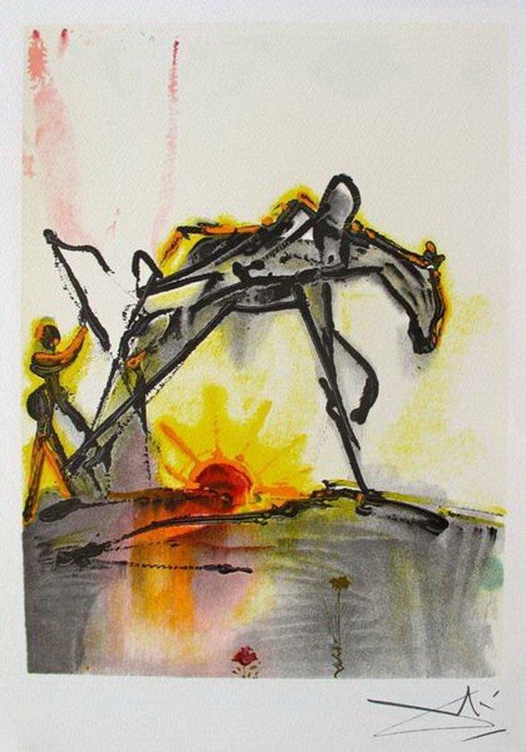 7T: SALVADOR DALI DALINEAN HORSES LE CHEVAL DE LABEUR O