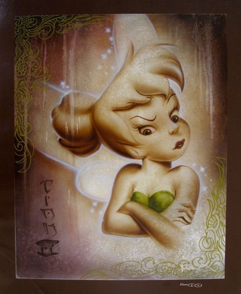 """709T: NOAH TINKER BELL """"UP IN A FUSS"""" LIMITED ED. HAND"""