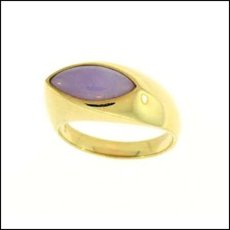 4K: NATURAL LAVENDER JADE RING