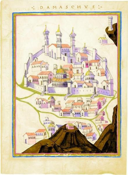 9B: PTOLEMY - CITY MAP, DAMASCUS