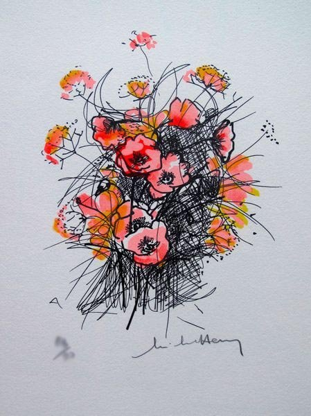 3T: MICHEL HENRY POPPIES BOUQUET LIMITED ED. HAND SIGNE