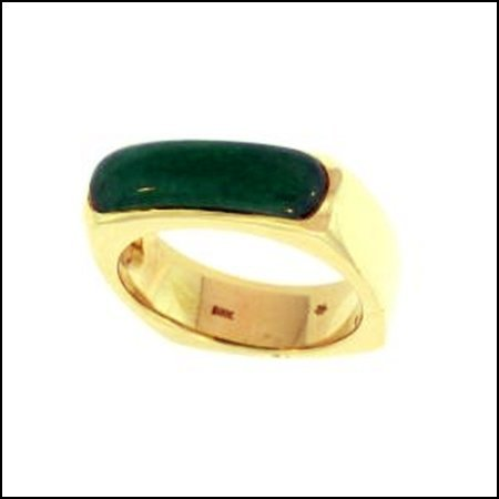 1K: NATURAL GREEN JADE RING
