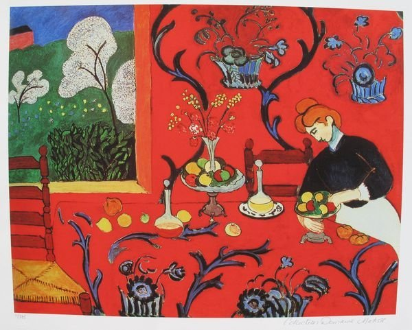 1T: HENRI MATISSE THE RED ROOM ESTATE SIGNED & STAMPED