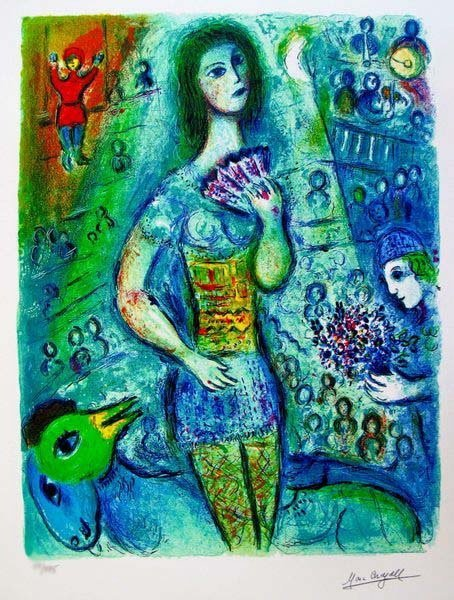 3T: MARC CHAGALL CIRCUS FAN DANCER LIMITED ED. SMALL GI
