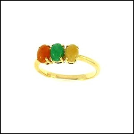 7K: NATURAL MULTI-COLOR JADE RING