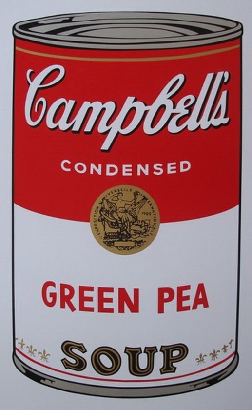 1M: ANDY WARHOL - SUNDAY B. MORNING - GREEN PEA SOUP CA