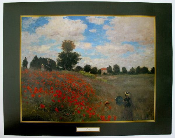 1T: CLAUDE MONET POPPIES LITHOGRAPH