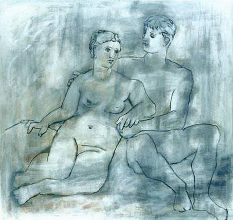 5H: #06 THE LOVERS PICASSO ESTATE SIGNED GICLÉE