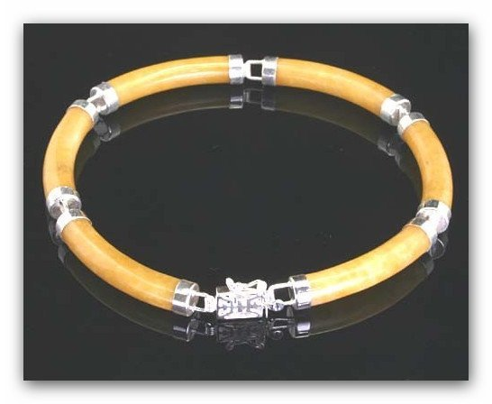 12X: YELLOW JADE BRACELET