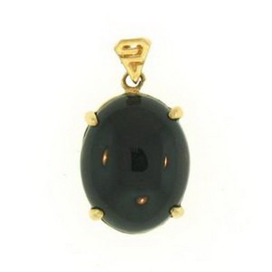 3K: NATURAL BLACK JADE PENDANT