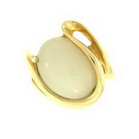 5K: NATURAL WHITE JADE RING