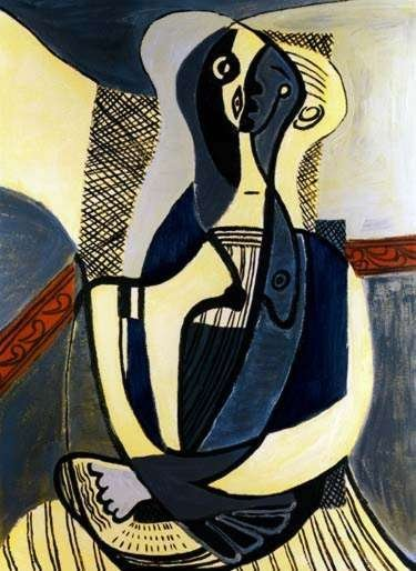9T: #46 SEATED WOMAN PICASSO ESTATE SIGNED GICLÉE