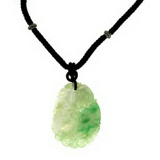 17K: NATURAL GREEN WATER JADE NECKLACE