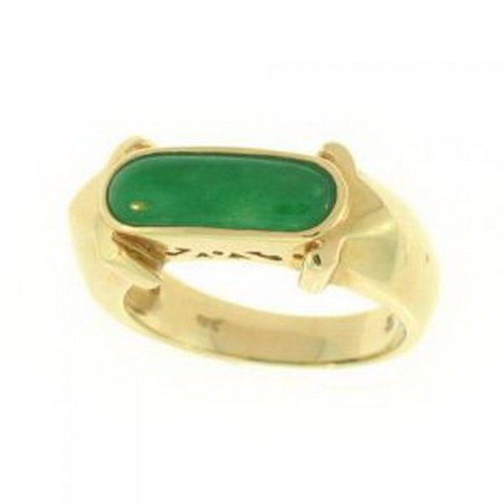 25K: NATURAL GREEN JADE RING