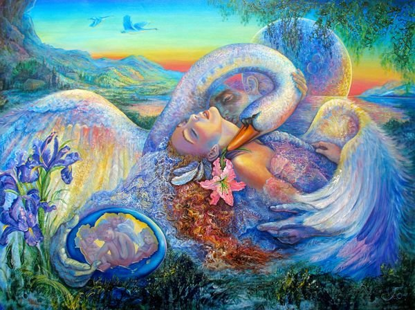 5T: JOSEPHINE WALL LEDA AND THE SWAN HAND SIGNED EMBELL