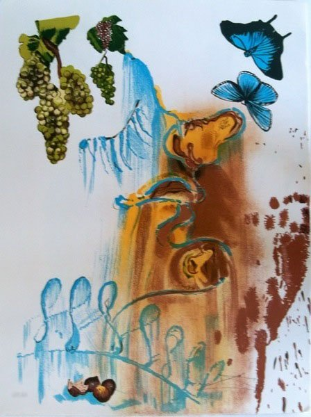965T: SALVADOR DALI THE SEASONS SUMMER HAND SIGNED LITH