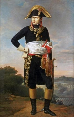834b French School Portrait Of Napoleon