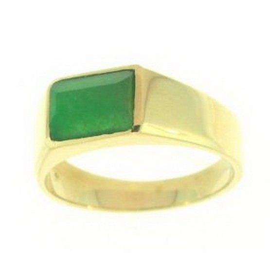 4K: NATURAL GREEN JADE RING