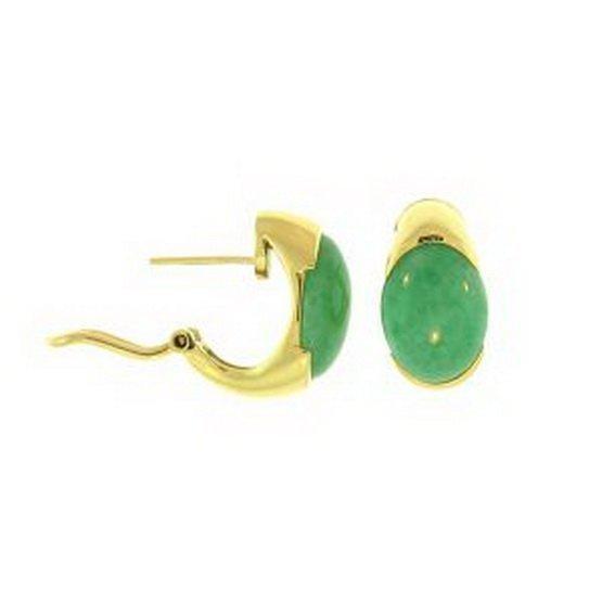 13K: NATURAL GREEN JADE EARRINGS