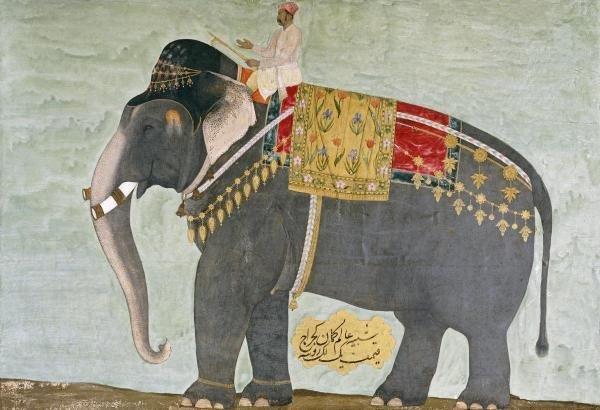 393B: MUGHAL - PORTRAIT OF THE ELEPHANT 'ALAM-GUMAN GAJ