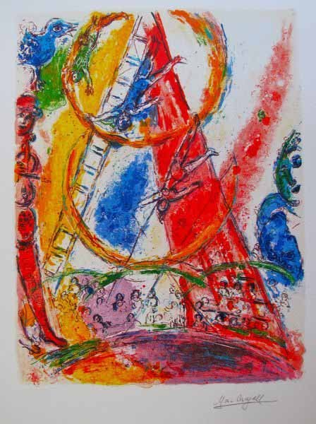 7T: MARC CHAGALL CIRCUS III LIMITED ED SMALL GICLÉE