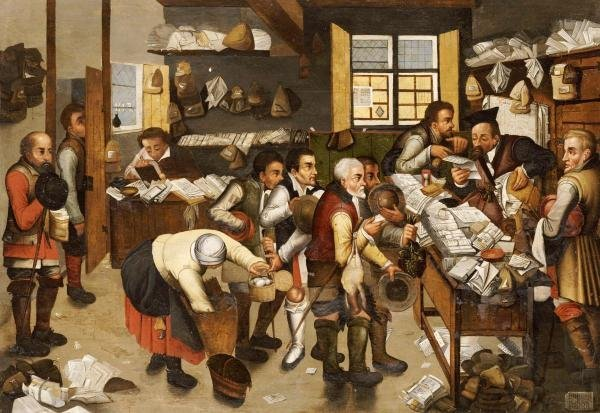 15B: PIETER BRUEGHEL - THE PAYMENT OF TITHES