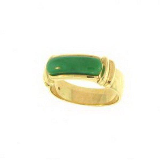 20K: NATURAL GREEN JADE RING