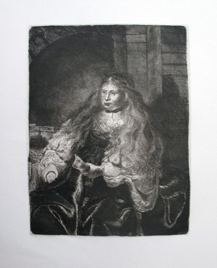 6T: REMBRANDT THE GREAT JEWISH BRIDE ETCHING