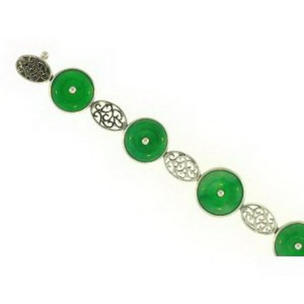 9K: NATURAL GREEN JADE BRACELET