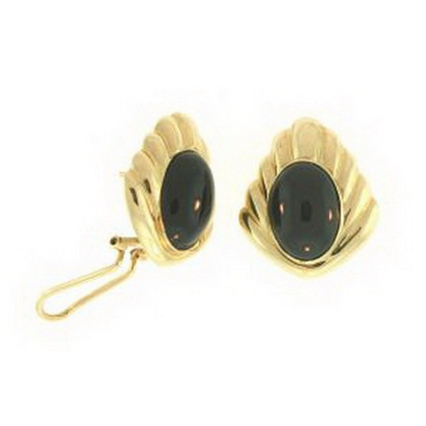 494K: NATURAL BLACK JADE EARRINGS