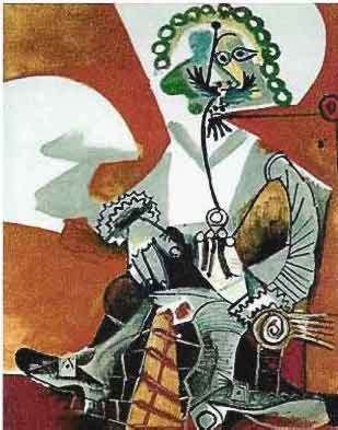 2T: #103 BUCKLED SHOE MAN PICASSO ESTATE SIGNED GICLÉE