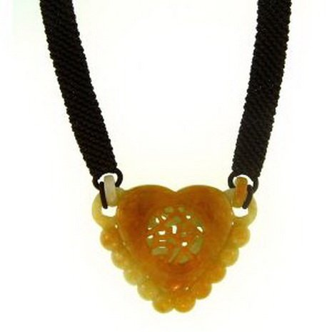 4K: NATURAL YELLOW JADE NECKLACE