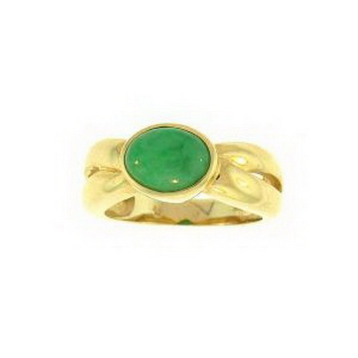 6K: NATURAL GREEN JADE RING