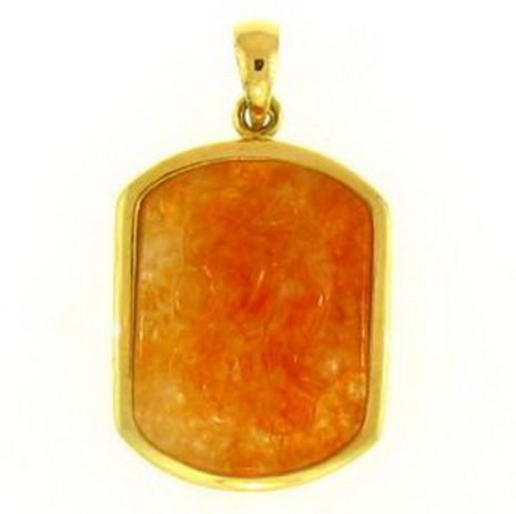 8K: NATURAL RED JADE PENDANT