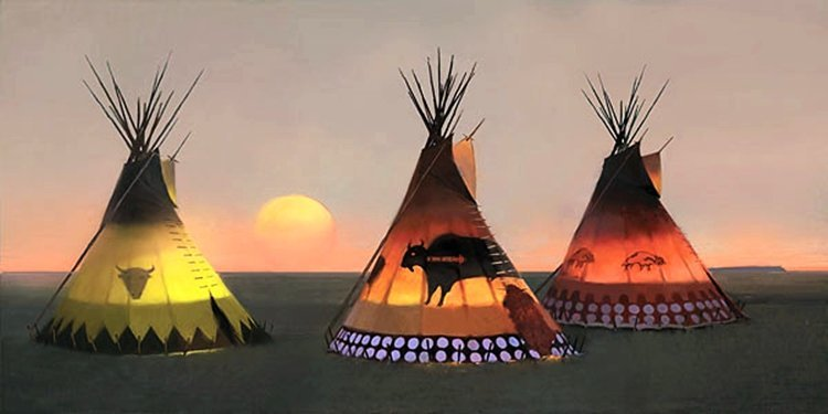 695W: R. TOM GILLEON - INDIAN SUNSET II