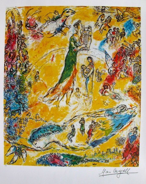 819T: MARC CHAGALL SORCERER OF MUSIC LIMITED ED PLATE S